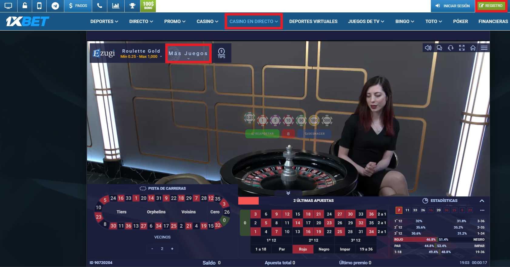 Los distintos tipos de apuestas en el 1xBet live Streaming
